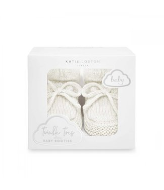 Katie Loxton White Knitted Baby Booties