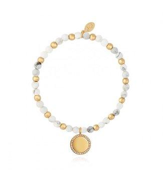 Joma Jewellery Wellness Gems Howlite Stretch Bracelet
