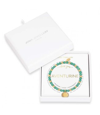 Joma Jewellery Wellness Gems Adventurine Stretch Bracelet