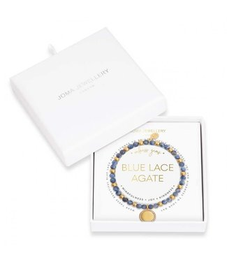 Joma Jewellery Wellness Gems Blue Lace Agate Stretch Bracelet