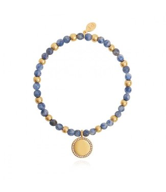 Joma Jewellery Wellness Gems Blue Lace Agate Stretch Bracelet