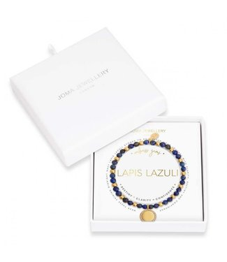 Joma Jewellery Wellness Gems Lapiz Lazuli Stretch Bracelet