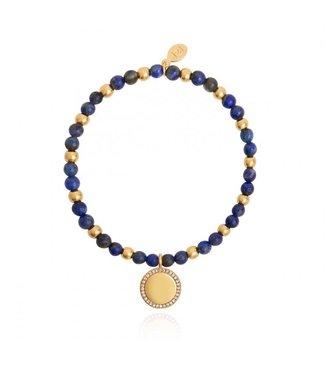 Joma Jewellery Wellness Gems Lapiz Lazuli Stretch Bracelet