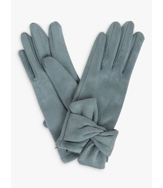 Powder Henrietta Faux Suede Gloves Denim