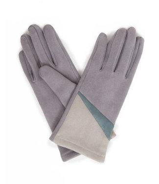 Powder Ziggy Faux Suede Gloves Slate