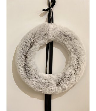 Soft Faux fur Wreath