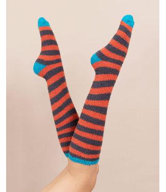 Powder Fluffy Tangerine bed socks