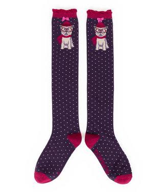 Powder Winter Westie Knee High Socks