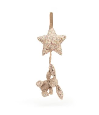 Jellycat Blossom Bea Beige Bunny Star Musical Pull