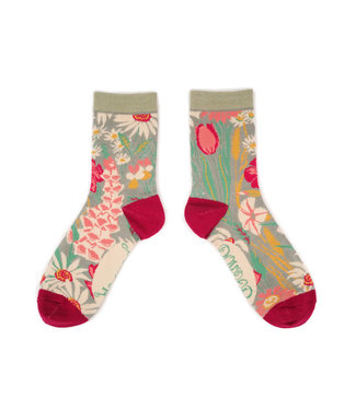 Powder Ladies Country Garden Ankle Sock