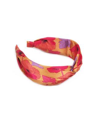 Powder Yellow Poppy Satin Headband