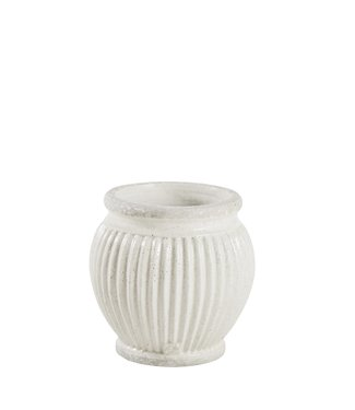 Lene Bjerre Small White Catinia Flower Pot