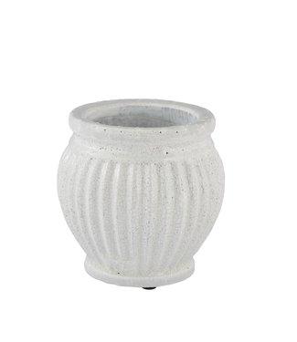 Lene Bjerre Medium White Catinia Flower Pot
