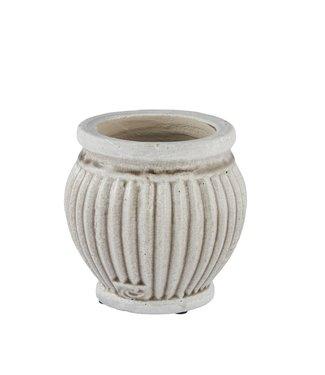 Lene Bjerre Medium Silver Grey Catinia Flower Pot