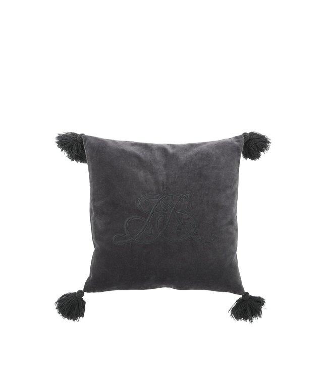 Lene Bjerre Dark Grey Monine Cushion