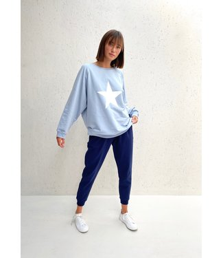 Chalk Pale Blue Nancy Sweatshirt with White Star