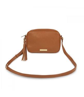 Katie Loxton Sophia Crossbody Tassel Bag in Cognac