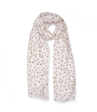 Katie Loxton Printed Leopard Scarf in Taupe