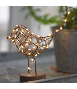 Lightstyle London Copper Robin Table Light