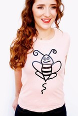 T-shirt Bee Happy Coral