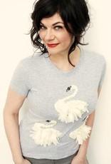 T-shirt Swanlake Passion Zwart