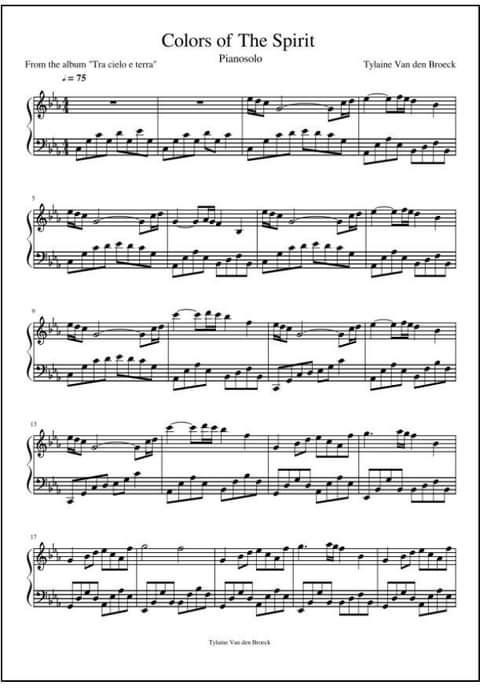 Colors of the Spirit  - pianopartituur