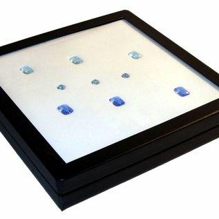 Universal Etui mit Glasdeckel quadratisch