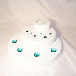 Dekoelemente 3er SET für Edelsteine oder Schmuck
