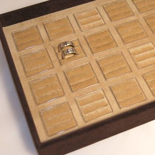 Stacking tray for 24 pairs of wedding rings