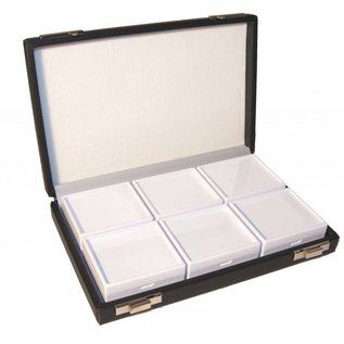 Case with 6 gemstone boxes