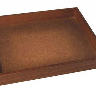 Stapellade mit 40 runden Kunststoffdosen für Edelsteine