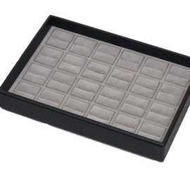 Jewelry stacking tray for 24 rings
