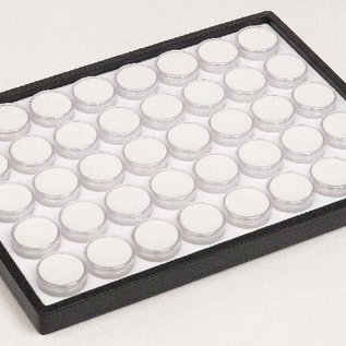 sliding tray content 40 round plastic boxes for gemstones