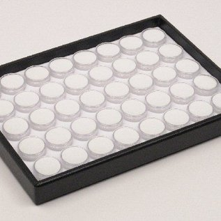 Stacking tray content 40 round plastic boxes for gemstones