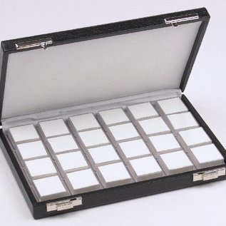 Case content 24 boxes for gemstones, half size