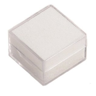 Plastic box with insert foam for gemstones