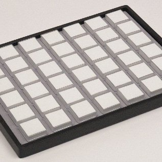 Gemstonesliding tray content 42 plastic boxes for gemstones
