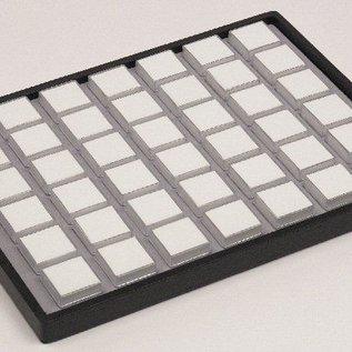 Gemstonesliding tray content 42 plastic boxes for gemstones