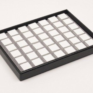 stacking tray content 42 plastic boxes for gemstones