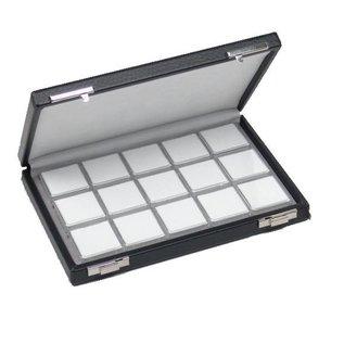 case content 15 boxes for gemstones, half size