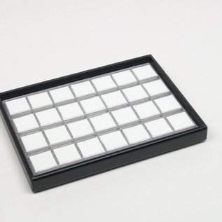 stacking tray content 28 plastic boxes for gemstones