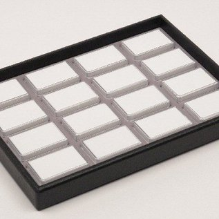 stacking tray content 16 plastic boxes for gemstones