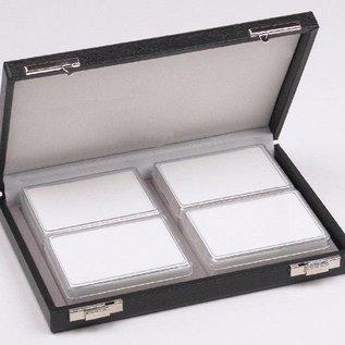 case content 4 plastic boxes for gemstones, half size