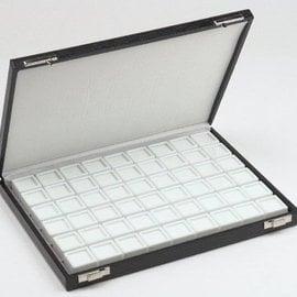case content 54 glass lid boxes
