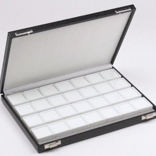 Etui mit 28 Glasdeckeldosen