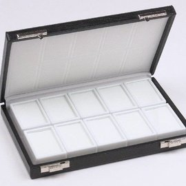 Etui mit 10 Glasdeckeldosen