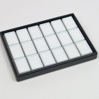 stacking tray content 18 glass lid boxes