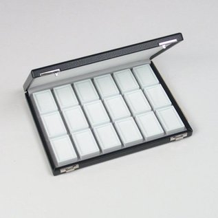 case content 18 glass lid boxes