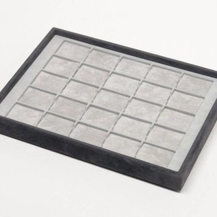 Stacking tray with 25 pads