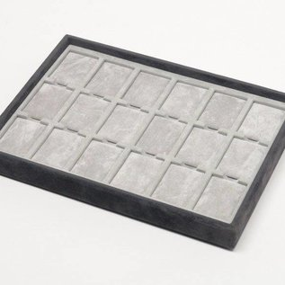 Stacking tray with 18 pads